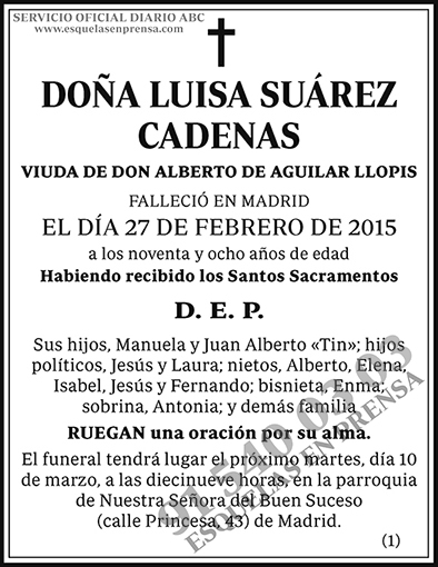 Luisa Suárez Cadenas